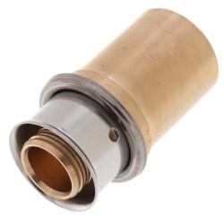 "Bronze 5/8"" PEX Press x 3/4"" Copper Fitting Adapter w/ Attached Sleeve"