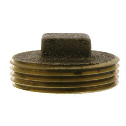"1-1/4"" Brass Raised Head Cleanout Plug Product Image"