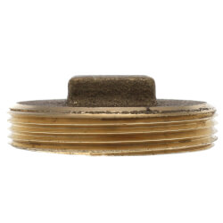 "2"" Brass Raised Head Cleanout Plug Product Image"