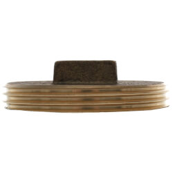 "2-1/2"" Brass Raised Head Cleanout Plug Product Image"