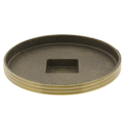 "4"" Brass Raised Head Cleanout Plug Product Image"