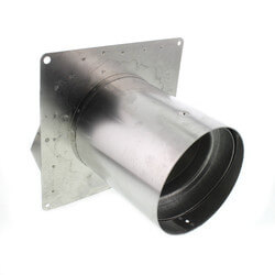 "3"" or 4"" Round Duct Aluminum Wall Cap<br>w/ Damper Product Image"
