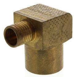 "Bronze 5/8"" PEX Press x 3/4"" Copper (F) Tubing Elbow w/ Attached Sleeve"