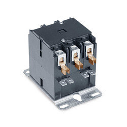 3 Pole Contactor, 120 VAC Coil, 30 Amp Contacts, 180 Ohms DC Resistance, 37 mA