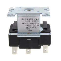 90 340 1 90 340 white rodgers 90 340 2 pole, type 91, 24 vac coil, dpdt White Rodgers Relay Wiring at bayanpartner.co