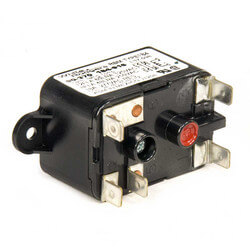 Fan Relay, Type 184, 24 VAC Coil, 50/60 Hz, SPDT. Coil Data: 77 Ohms DC Resistance, 125 mA