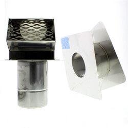 "4"" Cap Wall Thimble w/ Hood (4.0"" - 7.0"" Wall Thickness) Product Image"