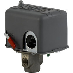 """Pressure Switch, 2 Way Valve, Black Cover 1/4"""" NPSF, 40-100 PSI Off at 80 PSI Product Image"""
