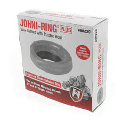 "Johni-Ring Toilet Gasket - Standard w/ Plastic Horn (3"" or 4"" Waste Lines) Product Image"