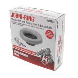 "Johni-Ring/Closet Bolts - Combo w/ Plastic Horn (3"" or 4"" Waste Lines) Product Image"