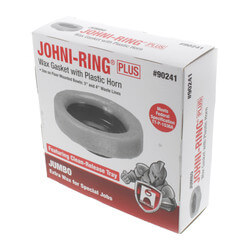 "Johni-Ring Toilet Gasket - Jumbo w/ Plastic Horn (3"" or 4"" Waste Lines) Product Image"