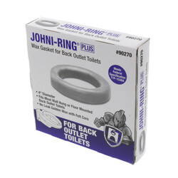 "Johni-Ring Wax Toilet Gasket - For Back Outlet Toilets (for 4"" Waste Lines) Product Image"
