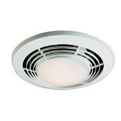 """9093WH Heater, Fan & Light Combo - 4"""" Round Duct (70 CFM) Product Image"""