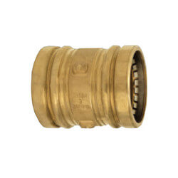 "4"" Propress XL Bronze Coupling - C x C - No Stop (Lead Free)"