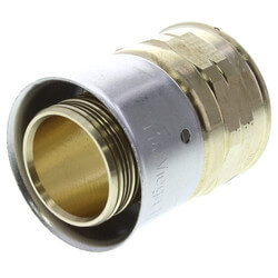 "Zero Lead Bronze 3/4"" PEX Press x 1/2"" F NPT Adapter w/ Attached Sleeve"