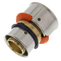 "Zero Lead Bronze 3/4"" x 1"" PEX Press Coupling w/ Attached Sleeve"