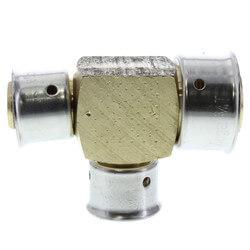 "1"" x 1/2"" x 1/2"" PEX Press Reducing Tee w/ Sleeve (Lead Free) Product Image"
