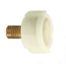 "Zero Lead Bronze 1/2"" PEX Press LAV Closet Adapter (Plastic Nut)"