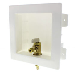 "Zero Lead Ice Maker Outlet Box with 3/8"" PEX Press Valve"