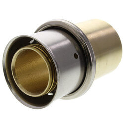"1-1/4"" PEX Press x 1-1/4"" Copper Fitting Adapter w/ Attached Sleeve (Lead Free Bronze)"