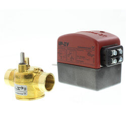 "1/2"" Sweat UP-ZV 2-Way, Normally Closed Zone Valve w/ End Switch Product Image"