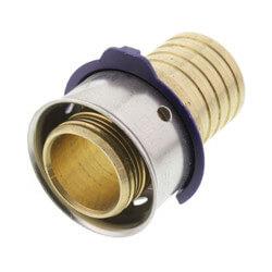 "Zero Lead Bronze 3/4"" PEX Press x 3/4"" PB Adapter w/ Attached Sleeve"