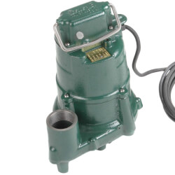 Model N98 Flow-Mate Non-Automatic Cast Iron Effluent Sump Pump - 115 V, 1/2 HP