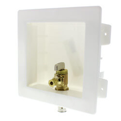 "Ice Maker Outlet Box with 1/2"" PEX Press Valve (Lead Free) Product Image"
