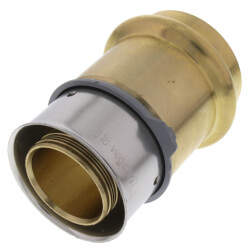 "Zero Lead Bronze PEX ProPress Adapter, 1-1/2"" PEX Press x 1-1/2"" ProPress, w/ Attached Sleeve"