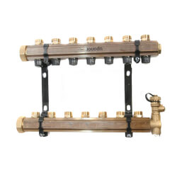 TruFlow Jr. Manifold Assembly with Balancing Valves & Valveless, 7 Loop S&R