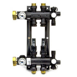 2-Loop EP Radiant Heat Manifold Assembly<br>w/ Flow Meters Product Image