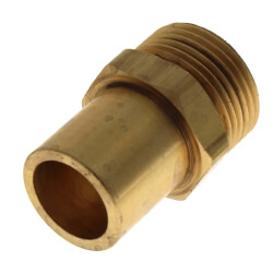 "Copper Fitting Adapter<br>R20 x 3/4"" Copper Product Image"