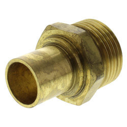 "Copper Fitting Adapter<br>R25 x 1"" Copper<br>(for 3/4"" tubing only) Product Image"