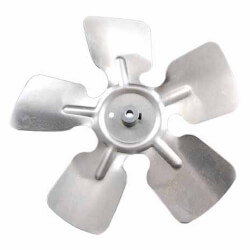 "6"" Aluminum 5 Blade CCW Hub on Intake Fan Blade Product Image"