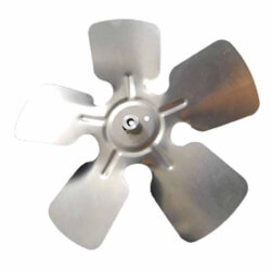 "7"" Aluminum 5 Blade CW, 1/4"" Bore, Hub on Intake Fan Blade Product Image"
