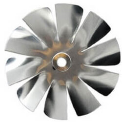 "3"" Aluminum 10 Blade, 1/4"" Bore CW Intake<br>Hub Fan Blade Product Image"