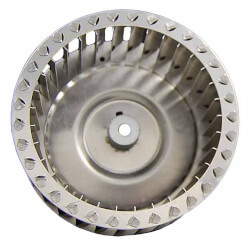 "Galvanized Steel CW Blower Wheel (3-41/50"" Diameter, 5/16"" Bore) Product Image"