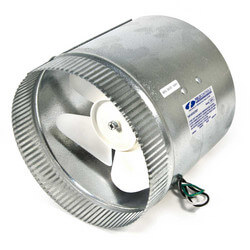 "8"" Air Boosters for Round Metal Duct or Flex Duct (up to 425 CFM) Product Image"