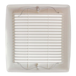 InVent Series Fan Finish Pack w/ White Grille (80 CFM, 1.5 Sones) Product Image