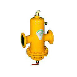 "6"" Spirovent Drain- Steel air and dirt separators with removable head (Flanged)"