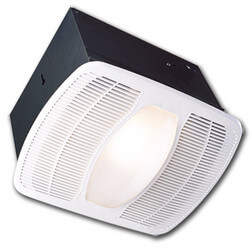 AK100L Deluxe Exhaust Fan w/ 100W Light & 7W Night Light (100 CFM) Product Image
