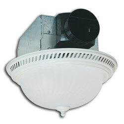 AKF703 Decorative Round Fan w/ 18W Fluorescent Light (White, 70 CFM) Product Image