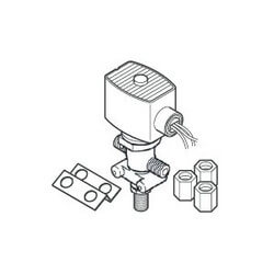 "1/4"" Compression<br>Solenoid Air Valve<br>w/ Junction Box (24V) Product Image"