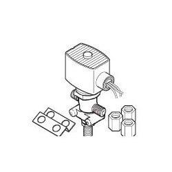 "1/4"" Compression<br>Solenoid Air Valve<br>w/ Junction Box (120V) Product Image"