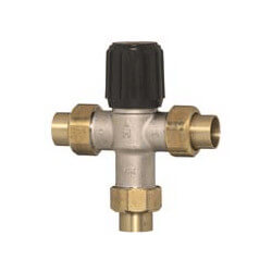 "1/2"" Lead Free NPT Mixing Valve, Union Sweat (70-120F) Product Image"