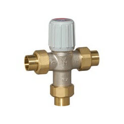 "3/4"" Union Sweat Mixing Valve 80°F-120°F<br>(Lead Free) Product Image"