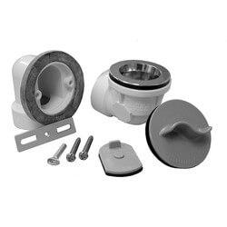 Std. PVC Bath Waste RI Kit w/ CP Lift & Turn Drain Body & Test Kit (2 Hole) Product Image