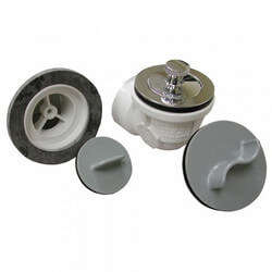 Std. PVC Bath Waste RI Kit w/ CP Friction Lift Drain Body & Test Kit (1 Hole) Product Image