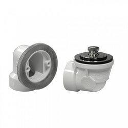Std. PVC Bath Waste RI Kit w/ CP Friction Lift Drain Body (2 Hole) Product Image