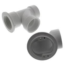 Bath Waste T-Waste Half Kit - CP Toe Pop-Up Drain w/ 2 Hole Face Plate (PVC) Product Image